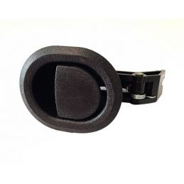 Black Plastic Round Recliner Handle With 6mm Barrel H1385
