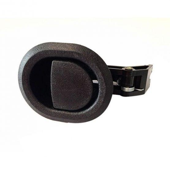 Black Plastic Round Recliner Handle With 6mm Barrel H1385