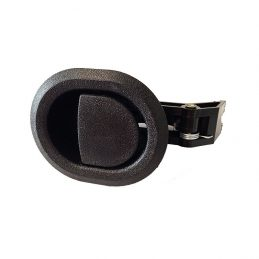 Recliner handle black plastic round with 3.5mm barrel H1319