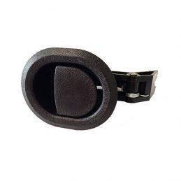 Recliner handle black plastic round with 3.5mm barrel H1319