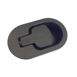 Recliner handle black plastic oval shape with 6mm barrel H1370