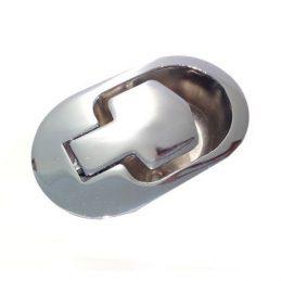 Recliner Handle Chrome Metal Oval 6mm Barrel H1312